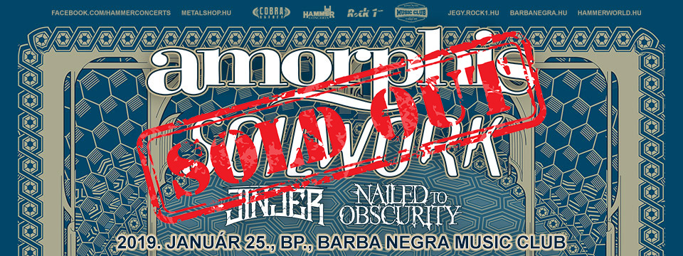 SOLD OUT - AMORPHIS & SOILWORK