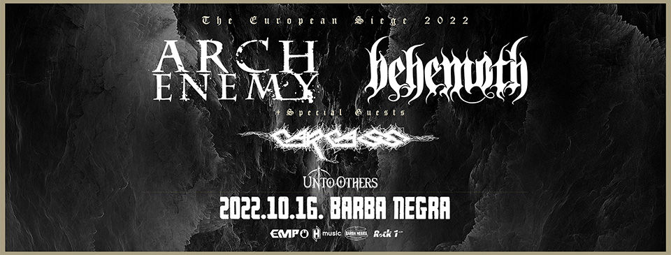 Arch Enemy | Behemoth | Carcass - The European Siege 2022 | Budapest