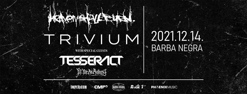 HEAVEN SHALL BURN   TRIVIUM Tour 2021 - Budapest