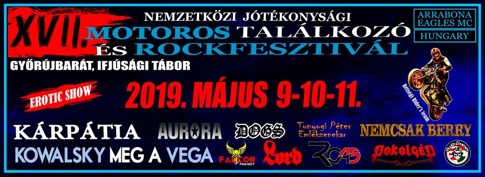 XVII. Nemzetközi Jótékonysági Motoros Találkozó és Rockfesztivál - Győrújbarát