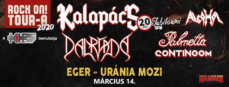 ELHALASZTVA - Rock On! TOUR-A 2020 - Eger