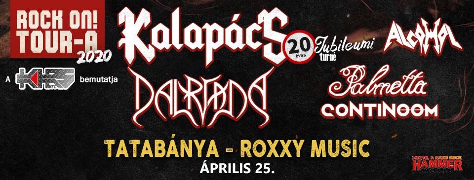 Rock On! TOUR-A 2020 - Tatabánya