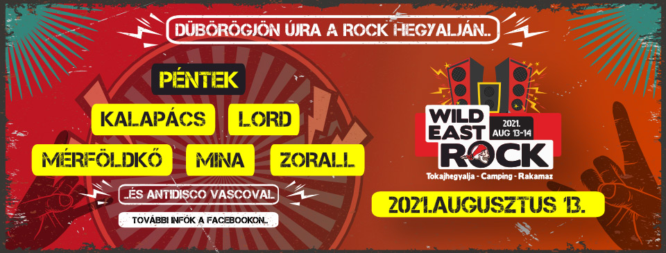 Wild East Rock Fesztivál 2021 - Napijegy 08/13