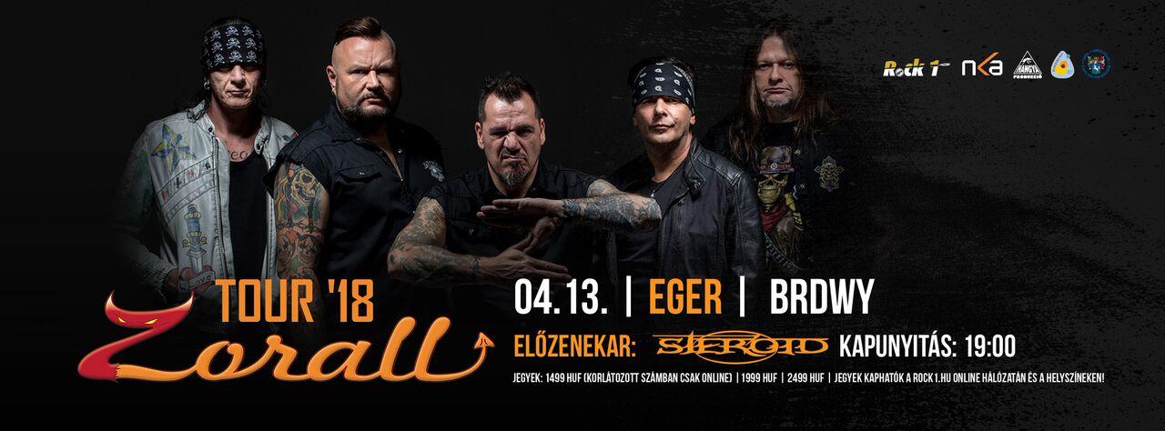 ZORALL Tour 2018 - Eger